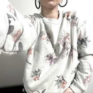 Obey. Whisky Floral pullover sweatshirt